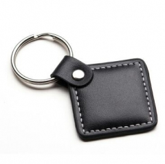 Cheap Promotional Black PU Leather Keychain