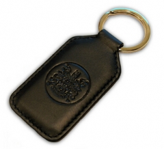 Cheap Black Leather Keychain in Bulk