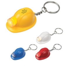 Mini Helmet Shape LED Key Rings